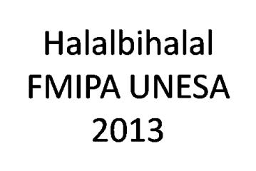 Halalbihalal Keluarga Besar FMIPA Universitas Negeri Surabaya