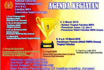 National University Debating Championship (NUDC) FMIPA UNESA
