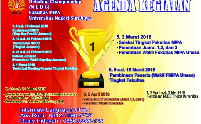 National University Debating Championship (NUDC) FMIPA UNESA