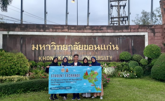 Student Exchange Mahasiswa UNESA di Khon Kaen University, Thailand
